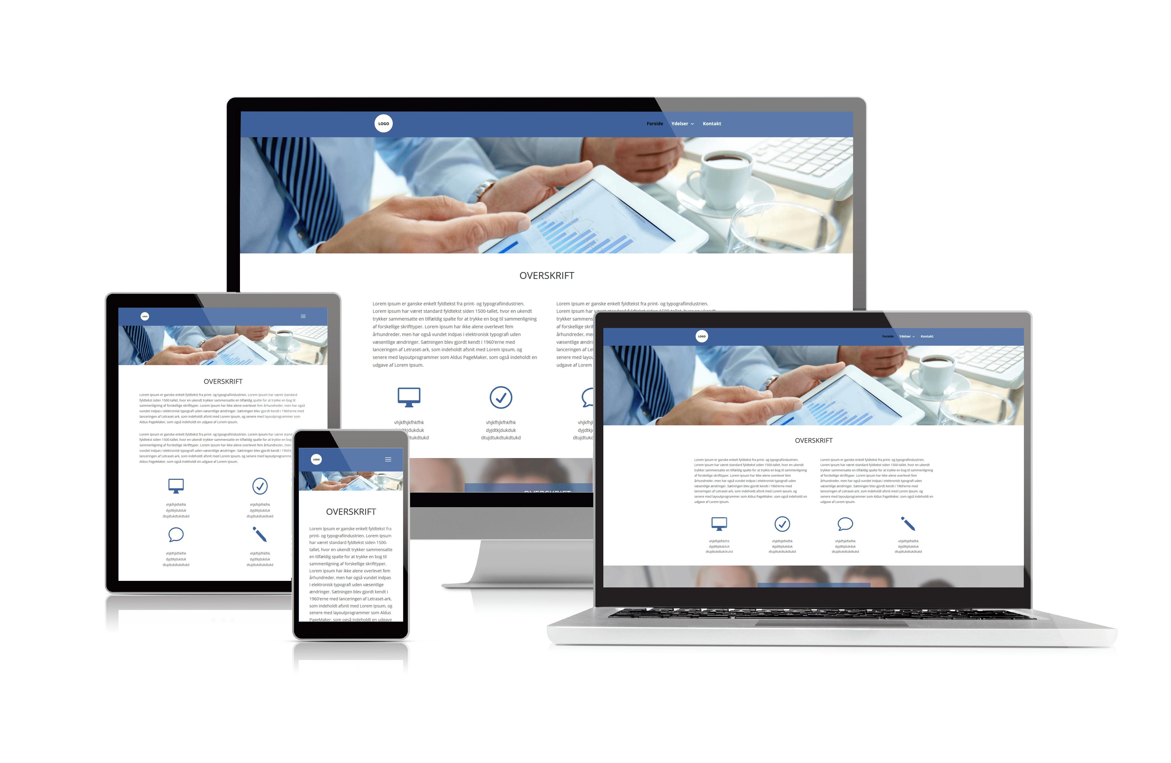 Professionel hjemmeside inkl. SEO-tekster, SEO-analyse og webdesign